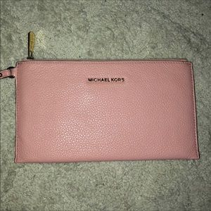 Michael Kors Large Pebble Leather Wristlet